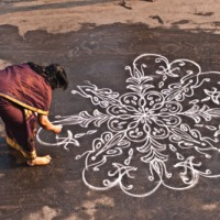 Use of a typical Indian metaphor by Devdatt Pattnaik to speak of culture: Kolam