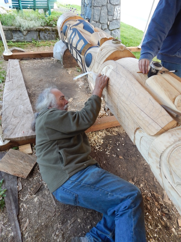 Jim Heaton, Master Carver, Sheldon Museum & Cultural Center, Haines, Alaska, August, 2014