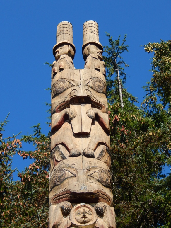 Totem pole, Sitka National Historical Park, Sitka, Alaska, August 2014