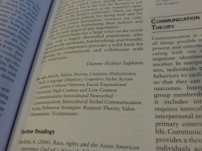 So I have to write about Cultural Diversity in my personal life?