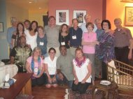Summer Institute Faculty. Peggy is in pink, standing.